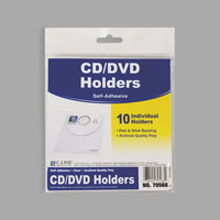 C-Line 70568 5 5/8 inch x 5 5/16 inch Self-Adhesive CD Holder - 10/Pack