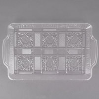 Fineline CC1350.CL Platter Pleasers 13 1/2 inch x 8 1/2 inch Crystal Plastic Catering Tray - 50/Case