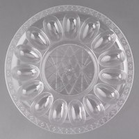 Fineline DE9224.CL Platter Pleasers 12 inch 20 Slot Plastic Egg Tray - 25/Case