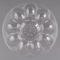 Fineline DE9000.CL Platter Pleasers 9 inch 12 Slot Plastic Egg Tray - 25/Case