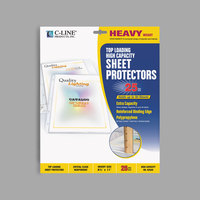 C-Line 62020 11 inch x 8 1/2 inch Heavyweight Top-Loading Clear Polypropylene Large Capacity Sheet Protector   - 25/Box