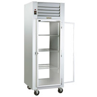 Traulsen G16013P Solid Front, Glass Back Door 1 Section Pass-Through Refrigerator - Right / Left Hinged Doors