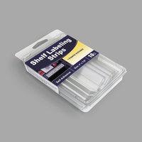 C-Line 87447 4 inch x 7/8 inch Clear Side Load Shelf Labeling Strip - 10/Box