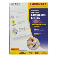 C-Line 65009 Cleer Adheer 12 inch x 9 inch Antimicrobial Self-Adhesive Laminating Sheet - 50/Box