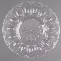 Fineline DE9600.CL Platter Pleasers 12 inch 24 Slot Plastic Egg Tray - 25/Case