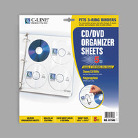 C-Line 61948 10 1/4 inch x 10 1/4 inch Deluxe 8-CD Clear Polypropylene Binder Page   - 5/Pack
