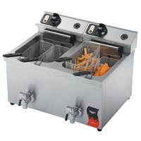 Vollrath 40710 30 lb. Commercial Countertop Deep Fryer - 208-240V