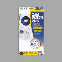 C-Line 61958 11 1/16 inch x 5 7/8 inch Deluxe 4-CD Clear Polypropylene Binder Page   - 10/Pack