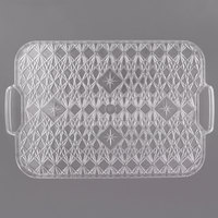 Fineline RCH1813.CL Platter Pleasers 18 inch x 13 inch Crystal Plastic Catering Tray - 12/Case
