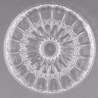 Fineline CC410.CL Platter Pleasers 12 inch Crystal Plastic Catering Platter - 24/Case