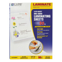 C-Line 65004 Cleer Adheer 12 inch x 9 inch Heavyweight Non-Glare Self-Adhesive Laminating Sheet - 50/Box