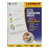 C-Line 65001 Cleer Adheer 12 inch x 9 inch Heavyweight Self-Adhesive Laminating Sheet - 50/Box