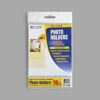 C-Line 70346 4 3/8 inch x 6 1/2 inch Clear Peel & Stick Photo Holder - 10/Pack