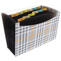 C-Line 48212 13-Pocket Plaid Letter Sized Standing Expanding File