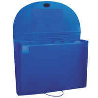 C-Line 48305 7-Pocket Blue Letter Sized Expanding File with Elastic Closure