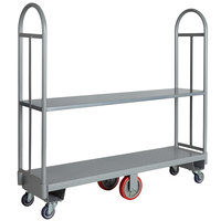 Regency 16 inch x 63 inch Heavy-Duty U-Boat Utility Cart with Removable Shelf - 2000 lb. Capacity