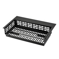 Tablecraft CW1078BK Simple Solutions 21 1/4 inch x 12 5/8 inch x 3 inch Black Cast Aluminum Perforated Single Cold Well Drop-In Template