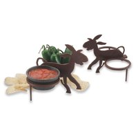 HS Inc. HS1049PJ Polypropylene Paulie Jose 2-Way Salsa Caddy - 7 1/4 inch x 6 1/2 inch x 6 1/2 inch - 24/Case