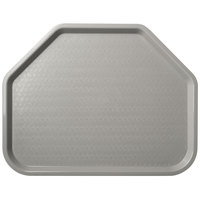 Carlisle CT1713TR23 Customizable Cafe 14 inch x 18 inch Gray Trapezoid Plastic Fast Food Tray - 12/Case