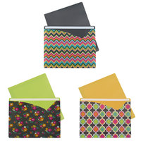 C-Line 63550 Letter Size Assorted Bold Color Write-On Fashion Poly File Jacket   - 6/Pack