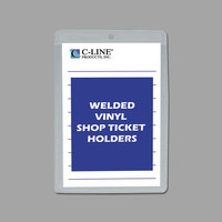 C-Line 80058 5 inch x 8 inch Double Sided Clear Vinyl Shop Ticket Holder with 25 Sheet Capacity - 50/Box