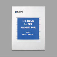 C-Line 62907 11 inch x 8 1/2 inch Heavyweight Top-Loading Clear Polypropylene No-Hole Sheet Protector   - 25/Box