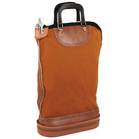 PM Company 04644 18 inch x 14 inch Gold / Brown Regulation Post Office Security Mail Bag with Zipper Lock