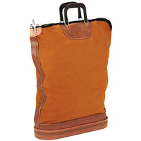 PM Company 04645 24 inch x 18 inch Gold / Brown Regulation Post Office Security Mail Bag with Zipper Lock