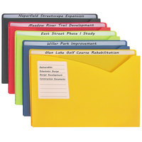 C-Line 63060 Letter Size Assorted Color Write-On 1 inch Expanding Poly File Folder - 25/Box