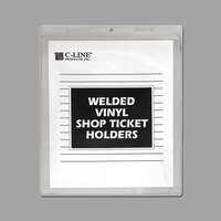 C-Line 80911 8 1/2 inch x 11 inch Double Sided Clear Vinyl Shop Ticket Holder with 15 Sheet Capacity - 50/Box