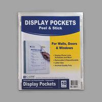 C-Line 36911 Letter Size Clear Polypropylene Display Pocket - 10/Pack