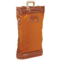 PM Company 04610 18 inch x 30 inch Gold / Brown Security Mail Bag with Lockable Belt Closure