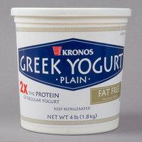 Kronos 4 lb. Fat Free 0% Plain Greek Yogurt   - 2/Case
