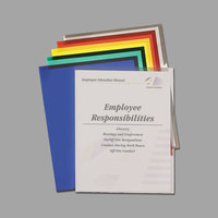 C-Line 62130 Letter Size Assorted Color Poly Project Folder with Thumb Cut Front - 25/Box