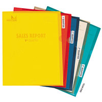 C-Line 62140 Letter Size Assorted Color Heavyweight Tabbed Jacket Poly Project Folder - 25/Box