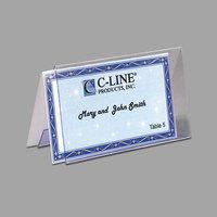 C-Line 87537 2 inch x 3 1/2 inch Clear Rigid Heavyweight Plastic Tent Card Holder - 40/Box