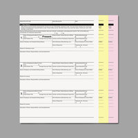 PM Company ICX90771007 8 1/2 inch x 11 inch Pink / Canary / White Three-Part Digital Carbonless Paper Set - 835 Sheets