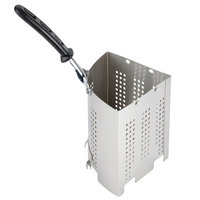 Vollrath 68130 Wear-Ever 3 Qt. Perforated Stainless Steel Wedge Inset with TriVent Silicone Handle