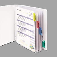 C-Line 05550 8 1/2 inch x 11 inch Assorted Color / Clear Sheet Protector with 2 inch Index Tab - 5/Set