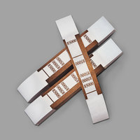 PM Company 55033 Brown Self-Adhesive $5000 Currency Strap   - 1000/Pack
