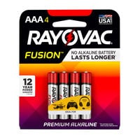 Rayovac 824-4TFUSK Fusion AAA Advanced Alkaline Batteries - 4/Pack
