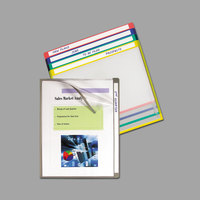 C-Line 62160 Letter Size Assorted Color Write-On Project Folder - 25/Box