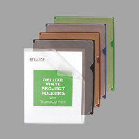 C-Line 62150 Deluxe Letter Size Assorted Color Vinyl Project Folder - 35/Box