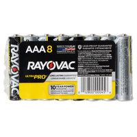 Rayovac ALAAA-8J Ultra Pro Industrial AAA Alkaline Batteries - 8/Pack