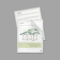 C-Line 62627 Letter Size Reduced Glare Polypropylene Project Folder - 25/Box