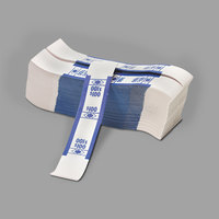 PM Company 55027 Blue Self-Adhesive $100 Currency Strap - 1000/Pack