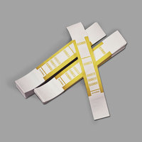 PM Company 55010 Mustard Self-Adhesive $10,000 Currency Strap   - 1000/Pack