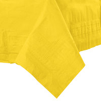 Hoffmaster 220440 54 inch x 54 inch Cellutex Sun Yellow Tissue / Poly Paper Table Cover - 50/Case