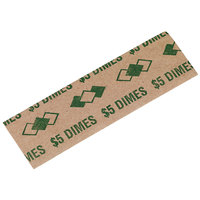 PM Company 53010 Pop-Open Tubular Green Coin Wrapper - $5, Dimes   - 1000/Pack