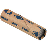 PM Company 65070 Preformed Tubular Blue Coin Wrapper - $2, Nickels   - 1000/Case
